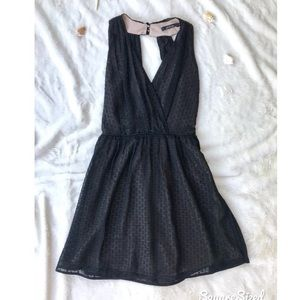 Ark & Co Black Batiste Party Dress
